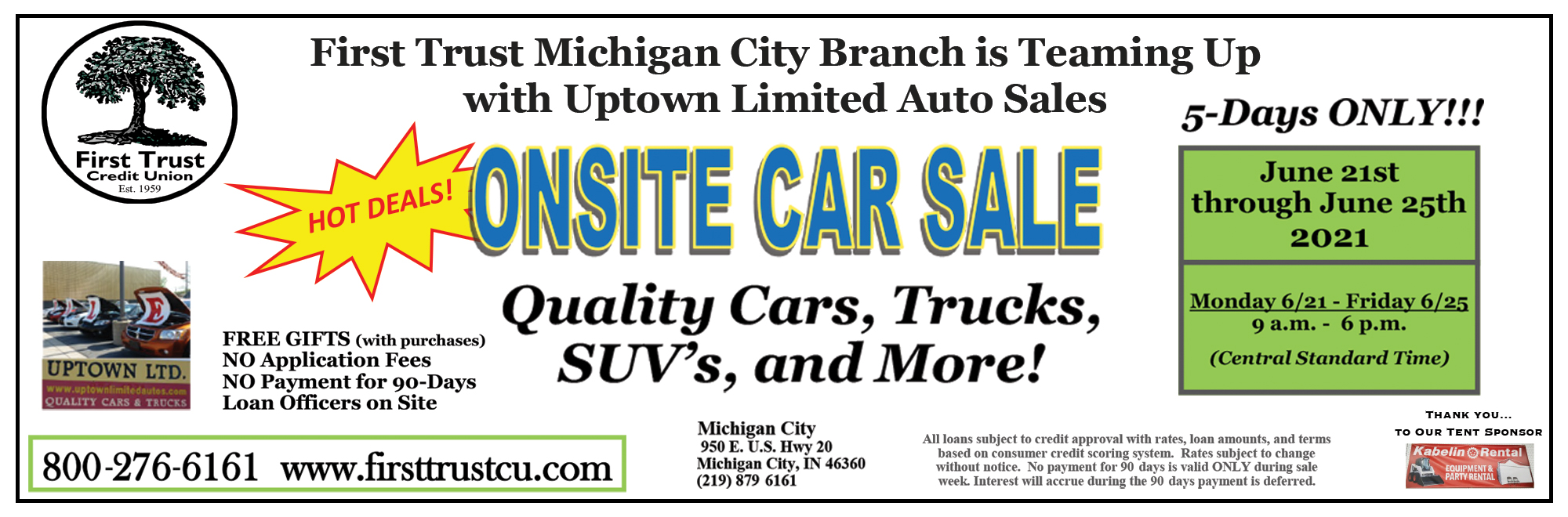 onsite car sale june 21st to june 25th
